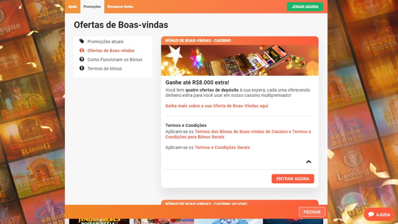 LeoVegas Bônus